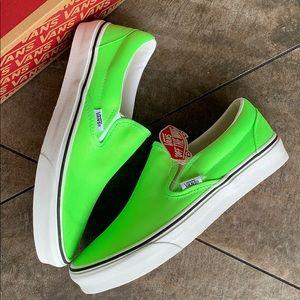 VANS CLASSIC SLIP ON NEON Green GECKO/True men's